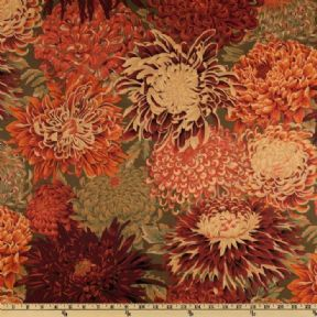 Kaffe Fassett Japanese Chrysanthemum Brown- Per Quarter Metre